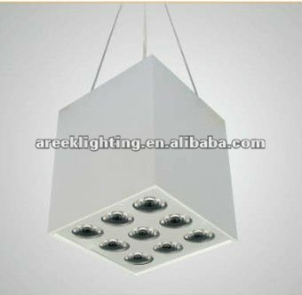 Square LED downlight one fixture with 2 styles