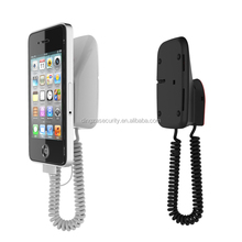 Wall mounted Mobile phone holder for retail display, with Alarm function