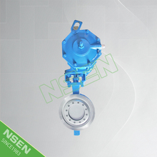 NSEN Reliable Supplier! Triple Eccentric Wafer Butterfly Valve With Pneumatic Actuator