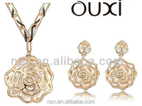 OUXI cheap dubai gold plated silver stone bulk jewelry S-2057