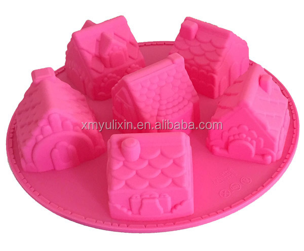 Creative little house designed silicone cake baking mold