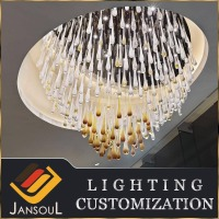 modern design flush mount stained color glass rain drop crystal chandelier