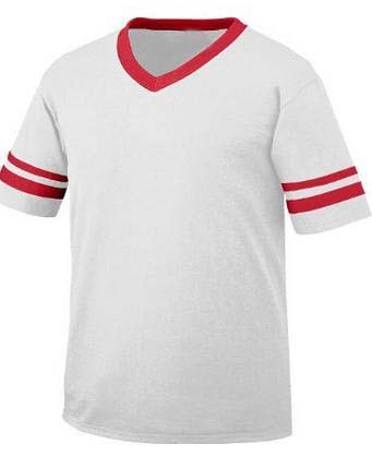 Football Jersey Baseball Tee V Neck White Hockey Jersey T Shirt
