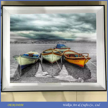 Top quality cartoon canvas painting boat wall decorations