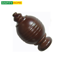 Fashionable Decorative Wooden Curtain Poles Brackets Accessories Rod And Finial