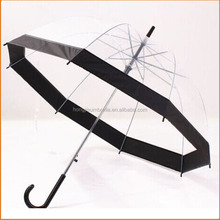 Hot Selling Environment Friendly POE Material Transparent Clear Dome Straight Umbrella