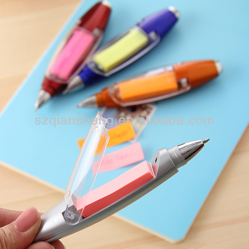multi-fuction ballpoint pen with light and sticky note
