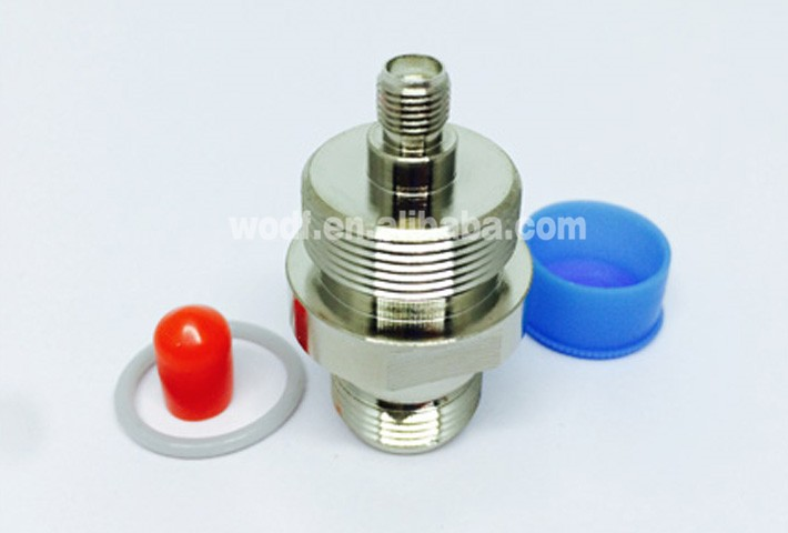 SMA female to N female coaxial connector adapter