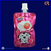 Soft drink packing bag/side gusset spout pouch made in china with high quality
