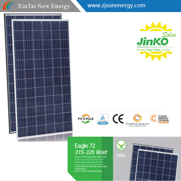 315w 320w 325w 330w 335w JinKo 4BB Eagle Black Solar Panel 72 cell poly solar panel