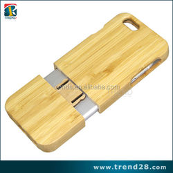 Handmade natural bamboo hard cover for iphone 6