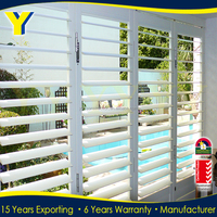 Exterior Sun Shade Aluminium Louvers airfoil louver and aluminum window