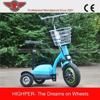 350w zappy three wheel electric scooter for cheap sale (HP105E-B)