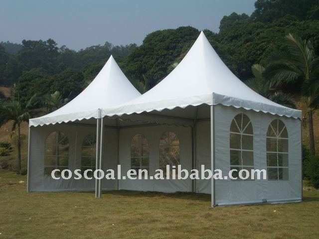 pagoda tent with PVC windows
