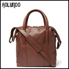 Wholesale leather tote bag fashion europe style men bag brown&black&gray