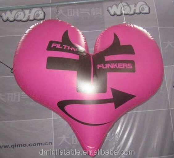 hot selling inflatable heart shape balloon