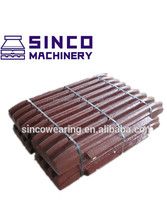 High Manganese Metso SBM SHANBAO jaw crusher Fixed Jaw die Mn13Cr2 Mn18Cr2 -- Casting Steel Jaw Crusher spare Parts