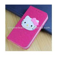 Fancy Cute Case For Samsung Galaxy Note 2 ,Leather Hello Kitty Wallet Cover Case For Samsung Galaxy Note 2 II N7100
