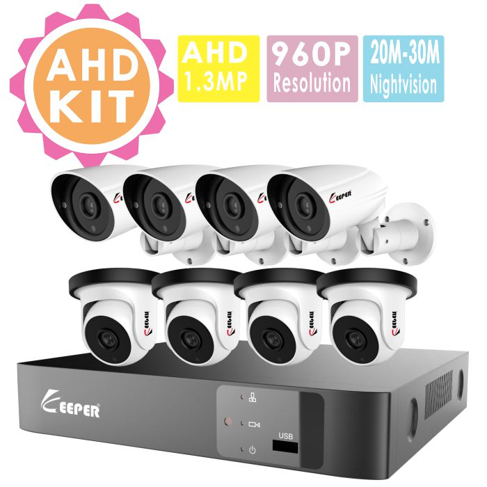 8ch dvr kit hot sell kit dvr completo unique design night vision waterproof 960p camera security camera systems
