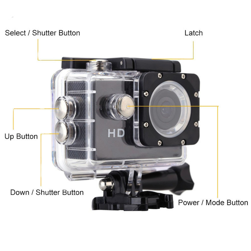 A7 2.0 inch LCD mini Camera HD 720P 90 Degree Wide Angle Lens DV Waterproof Mini Camcorder Sport Action Camera