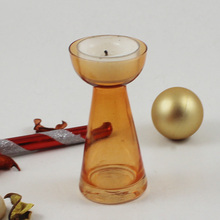 2016 Christmas Decoration heat resistant glass candle holder and birthday party decorations candle holder