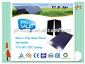 250W Cheep Solar Panel 125*125Mono IEC CEC TUV
