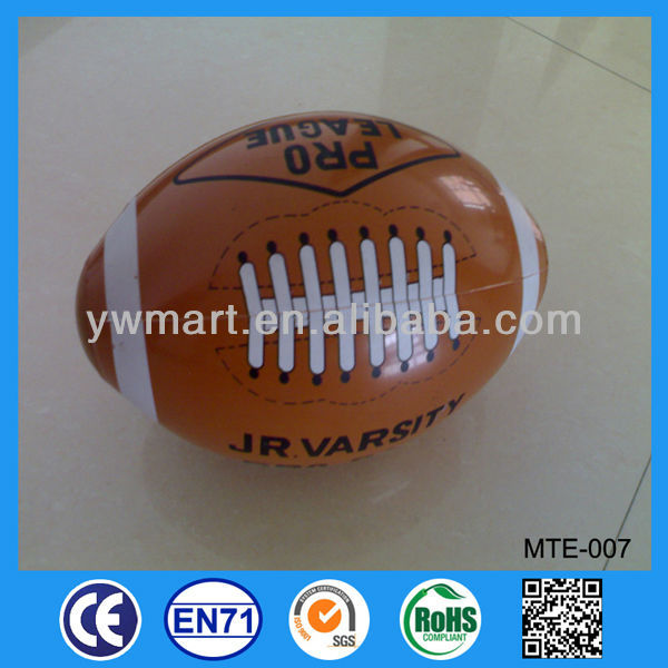 Trail Order Welcome promotional inflatable rugby balls