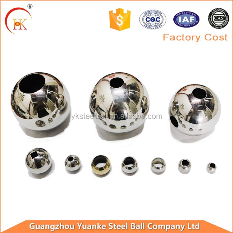 Customized High Polished 25mm 30mm 42mm 50mm 63mm Stainless Steel Ball With Drilled Hole