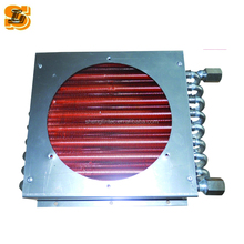 stainless steel tube stainless steel fin air to water heat exchanger with fan supplier in china