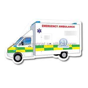 custom cheap refrigerator wholesale promotional car shape rubberized ambulance fridge magnet