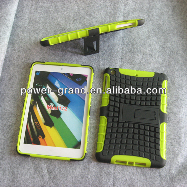 Kickstand PC TPU combo cover for iPad Mini 2