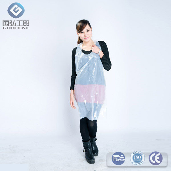 news CE Medical GradeTransparent PE disposable apron