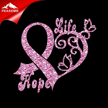 New Arrival Pink Glitter Ribbon Breast Cancer for Woman T-shirt