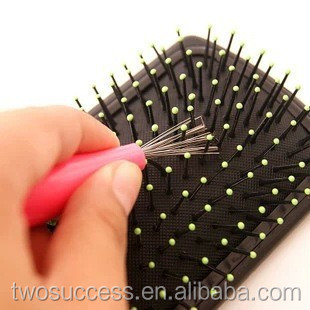 Super Durable Plastic Comb Cleaner Remover Hair Brush With Hair Clean Tool