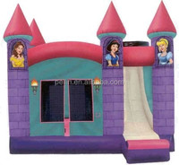 pink princess inflatable house rentals, high quality bouncy castle inflatable China kids play