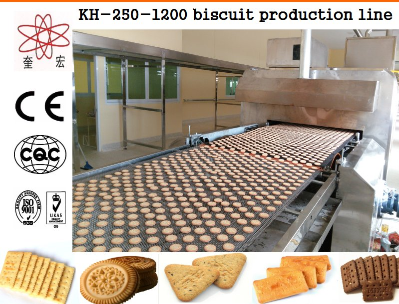 fully automatic biscuit making machine/biscuit production line with bakery machinery made in China for food factory use