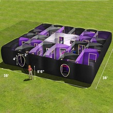 Mobile laser tag game arena, inflatable laser tag maze game equipment for sale, laser maze manufacturer