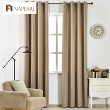 NAPEARL solid color blackout fabrics latest design living room curtains