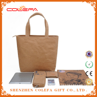 china wholesale high quality brown kraft paper custom tote bags no minimum