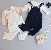S13188A beautiful korean fashion colored overalls for kids