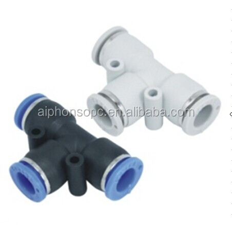 Pneumatic Components - PE Quick Connection/Three Way Pipe/Tube Fitting