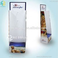 Custom printing retail display for clothing, clothing store display racks with hook