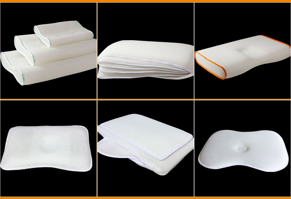 polyester washable 3d spacer mesh pillow forJapan market