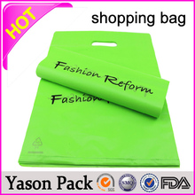 YASON new style bio-degradable shopping bags cheap plastic t shirt shopping bags printing custom printed frosted shopping bag wi