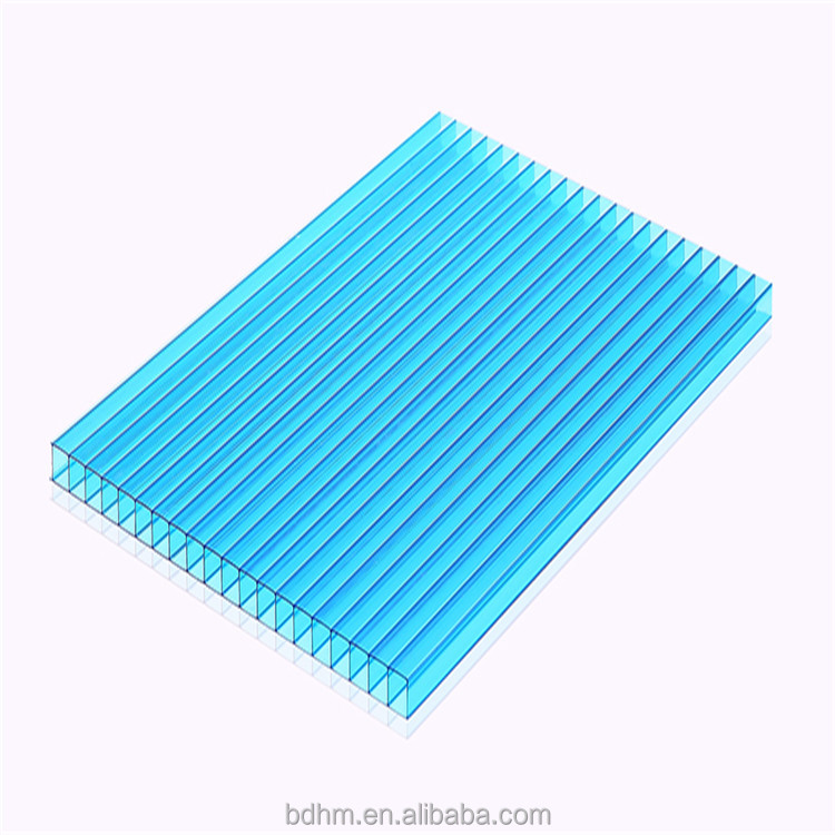 colorful twinwall polycarbonate sheet for green house