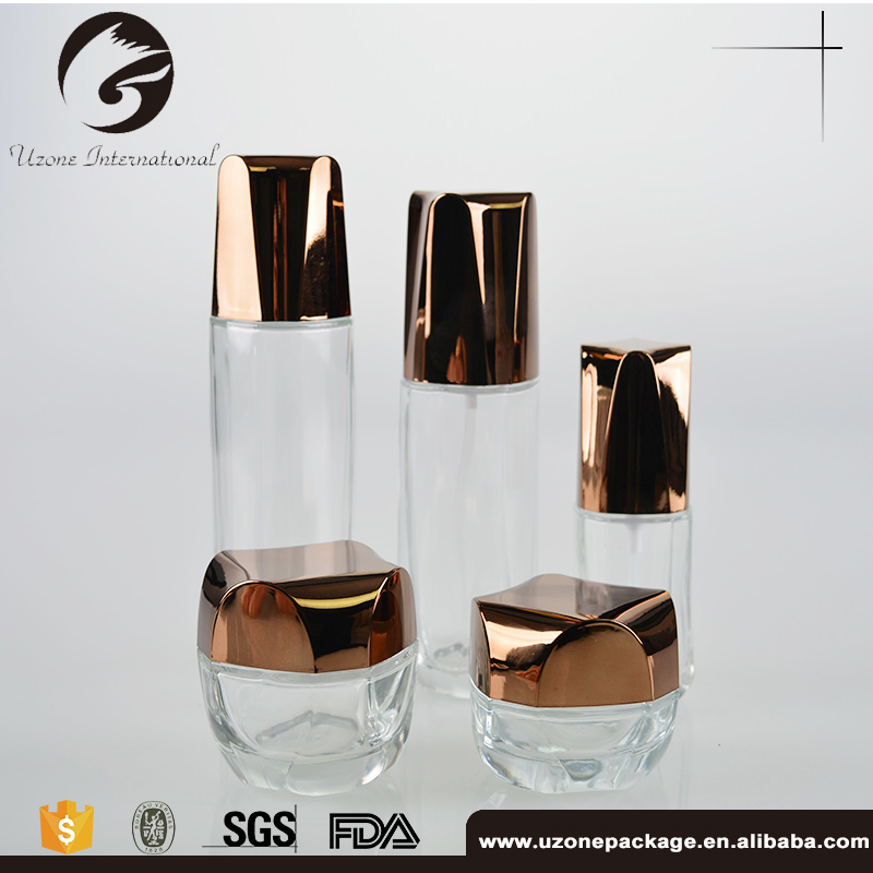 Well-Designed Cosmetics Cream Glass Bottle Moulded