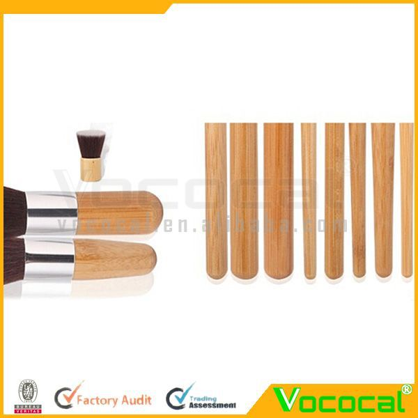 11PCS Wood small Makeup Brush Set Cosmetic Tool With Gunny Bag