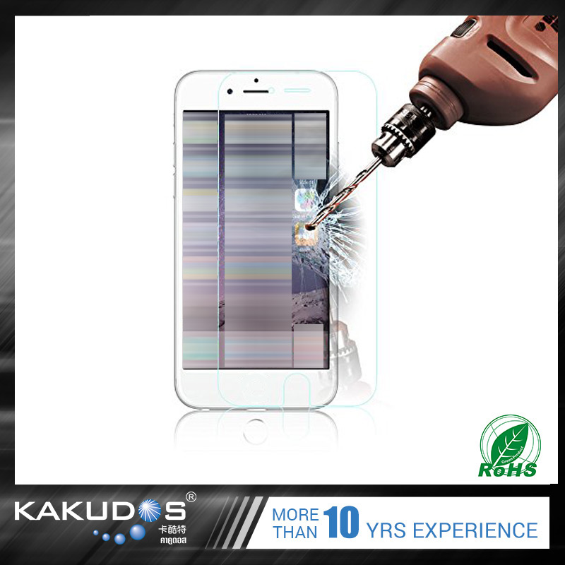 Wholesale tampered glass silicone screen protector for iphone 6