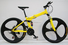 26 Inch mountain folding bicycle steel frame 21speed