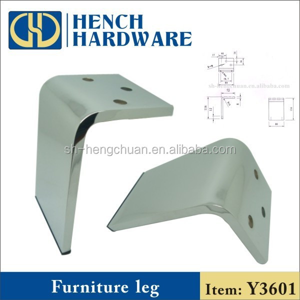 Metal leg covers for furniture sofa leg